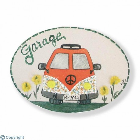 Mini plaque de porte-Camionette hippie