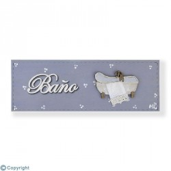 Plaque rectangulaire-Toilette