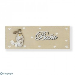 Placa rectangular-Baño