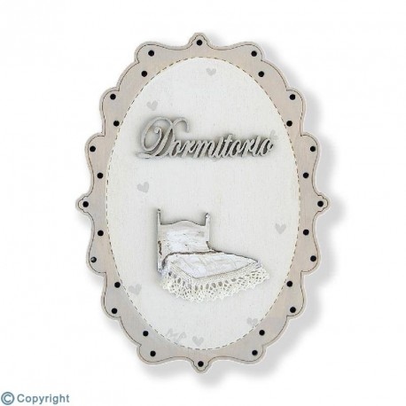 Placa Vintage Decorada-Dormitorio