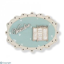 Placa Vintage Decorada-Vestidor